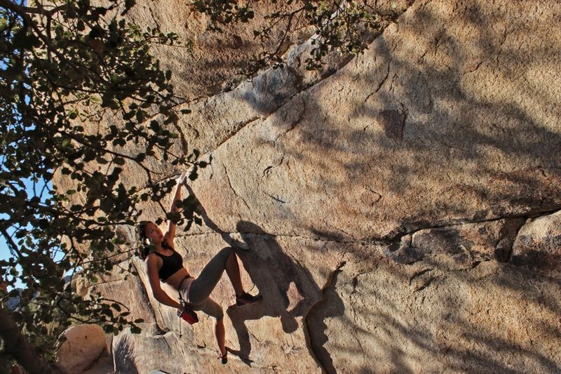 Rock Climbing Photo: Myself on the 1st half of Gunsmoke Traverse