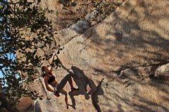 Rock Climbing Photo: Myself on the 1st half of Gunsmoke Traverse