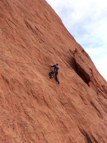 Rock Climbing Photo: Less tilt but still quite thin.