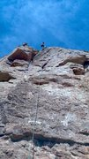 Rock Climbing Photo: Cleaning anchors on Politically Incorrect.