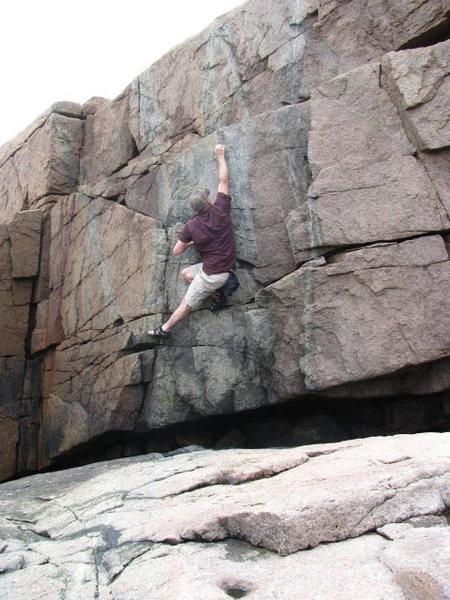 Rock Climbing Photo: Bouldering along the shore between Sand Beach and ...