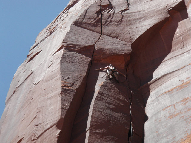 Rock Climbing Photo: sinestra... indian creek... wow