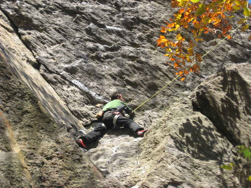 Rock Climbing Photo: Andrew on one of his first climbs