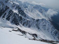 Rock Climbing Photo: Hike to ski terrain, from the shack.
