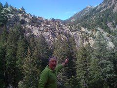 Rock Climbing Photo: Malcolm isn't sure about the Quartzite Ridge.