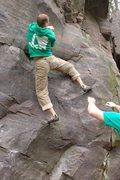 Rock Climbing Photo: Katie Schultz photo.  Beautiful Soup traverse move...
