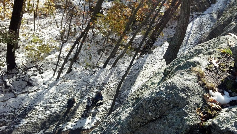 Rock Climbing Photo: The view from the top of Rhododendron.