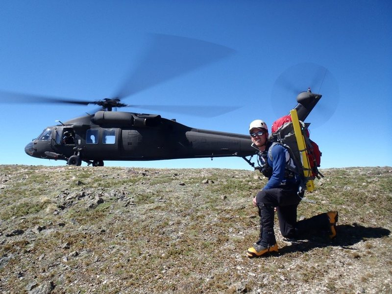 Getting dropped off on a 14er by an Army Blackhawk to search for lost hikers