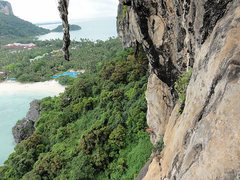 Rock Climbing Photo: Looking at Equatorial with someone on it from abou...