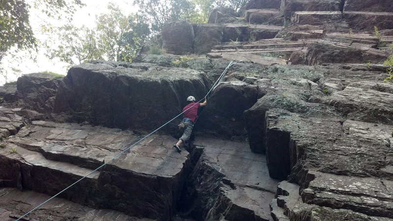 Christian working on the crux of Neanderthal.