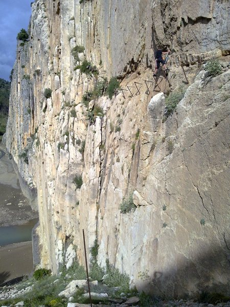Rock Climbing Photo: via ferrata, Batman style