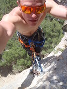 Rock Climbing Photo: From the top of a looong route.  My theory is that...