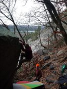 Rock Climbing Photo: Mike on the right hand arete version.  November 20...