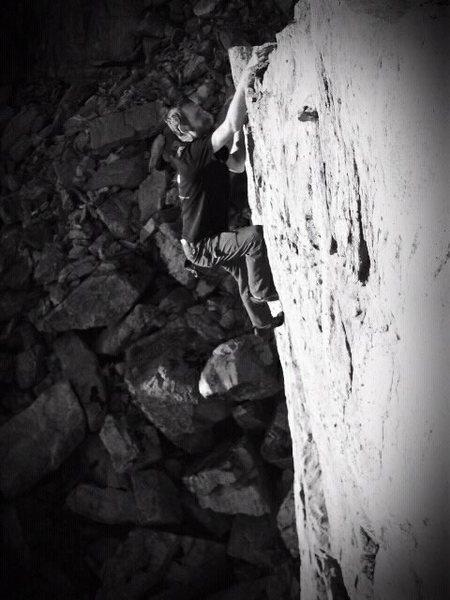 Rock Climbing Photo: Taco finishing up TK421