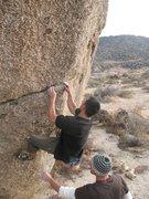 Rock Climbing Photo: Starting up Culpability (V4), Culp Valley