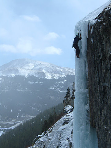 Just me and the ice. I love climbing.