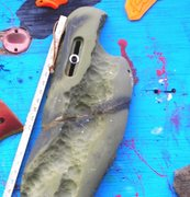 Rock Climbing Photo: close up of where I epoxied the pieces back togeth...