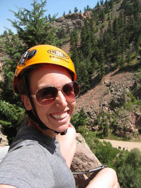 Eldo Canyon... I know, my helmet is on crooked.