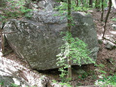 Rock Climbing Photo: Trench Boulder from trail