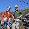 Ken and I after two great routes in the Amphitheater at Linville Gorge.