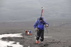 Rock Climbing Photo: Almost to the snow line on Mt Fuji in Japan