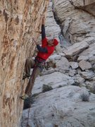 Rock Climbing Photo: Pain Check.  One of the better 12a's at Red Rock.