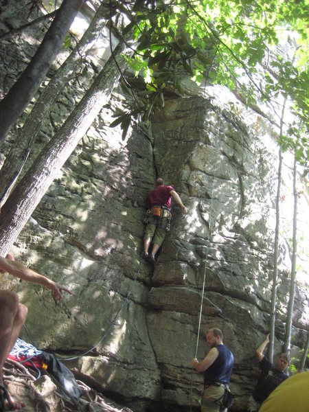 Rock Climbing Photo: This is the start of the route.  Very easy start o...