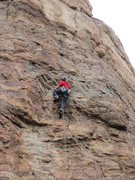 Rock Climbing Photo: Just below the overhanging section