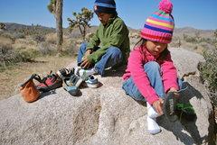 Rock Climbing Photo: My little climbers