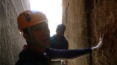 Rock Climbing Photo: deep in the shaft.  Epinephrine, Black Velvet Cany...