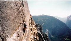 Rock Climbing Photo: Todd making his way to the Robbins Traverse, Reg N...