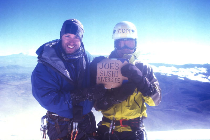 Rock Climbing Photo: missing our sushi joint on the summit of Cotopaxi,...