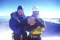 missing our sushi joint on the summit of Cotopaxi, Ecuador.  photo. Jon