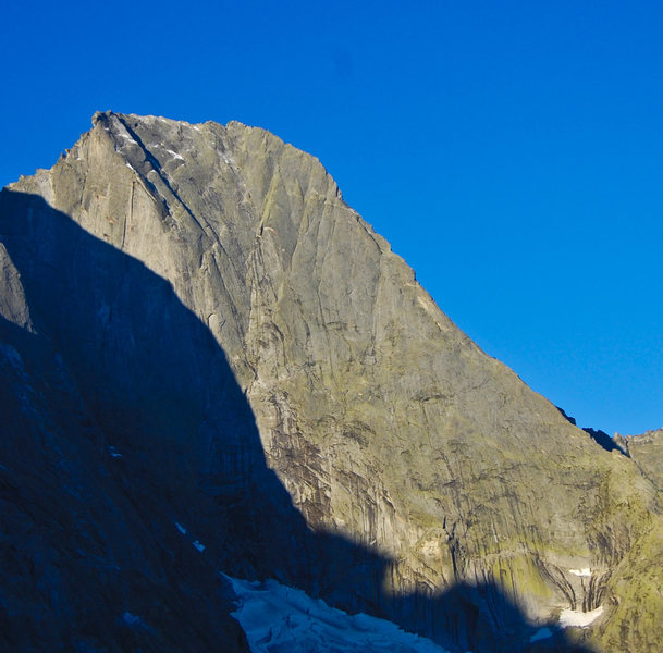 The Nordkante is the obvious ridge on the right.