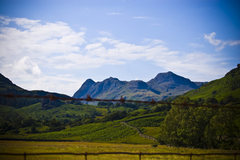 Rock Climbing Photo: Gimmer Crag in the Distance