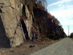 Rock Climbing Photo: Safe Harbor South's walls parallel old electric li...