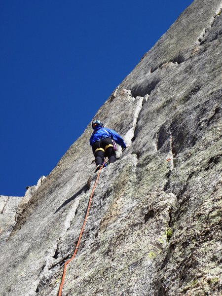 "Rock Climbing Photo: Leading Left ""K"" crack"