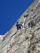 "Rock Climbing Photo: Leading Left ""K"" crack"
