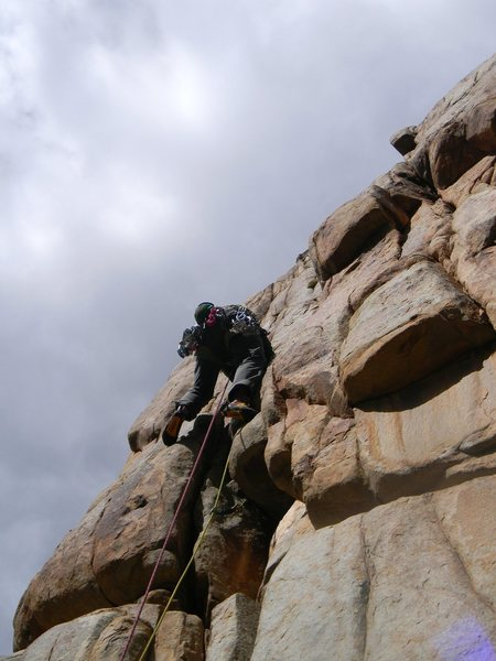 Rock Climbing Photo: Just pulled the crux.  The easier variation steps ...