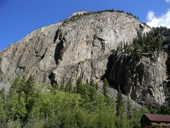 Rock Climbing Photo: The Ophir Wall.  Cracked Canyon is just to the rig...