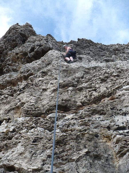 "Linda Climbing ""Steady as She Goes"""