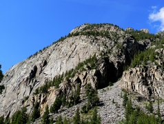 Rock Climbing Photo: Ophir Wall and Cracked Canyon on the right in the ...