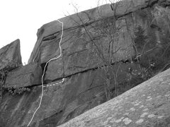 Rock Climbing Photo: Resident Evil and the hand crack variation.
