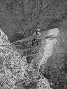 Rock Climbing Photo: The belay atop pitch 1