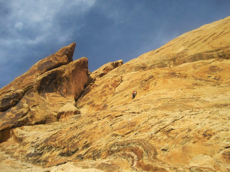 Rock Climbing Photo: Higher moving to the right