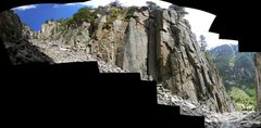 Rock Climbing Photo: Oddball pano of a climber on Chewbacca - definitel...