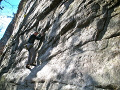 Rock Climbing Photo: Gene starting Frustration Syndrome