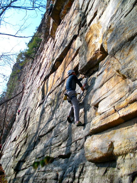 Rock Climbing Photo: Gene on Try Again