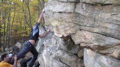 Rock Climbing Photo: You want to keep your left hand on the hold even t...