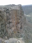 Rock Climbing Photo: The obvious wide crack is Whale of the Wanapum. Th...